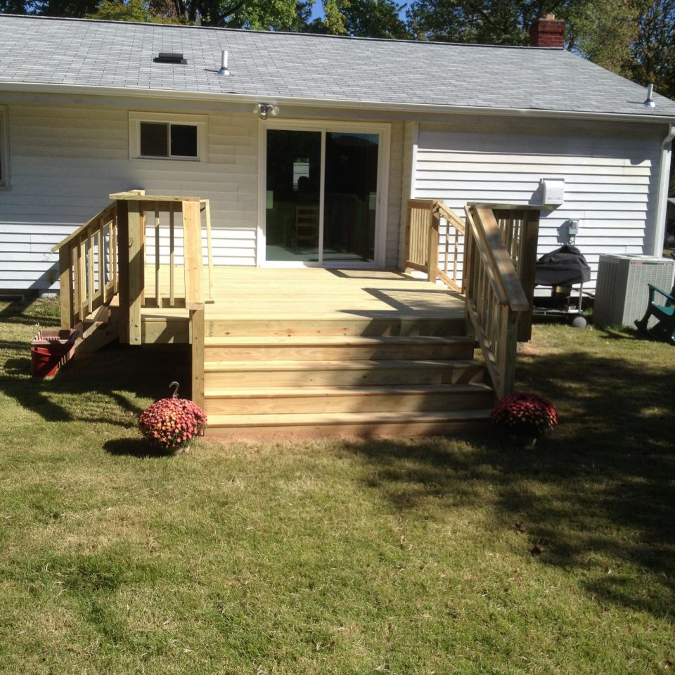 Nw Deck And Back Door Building In Bowie MD Qualis